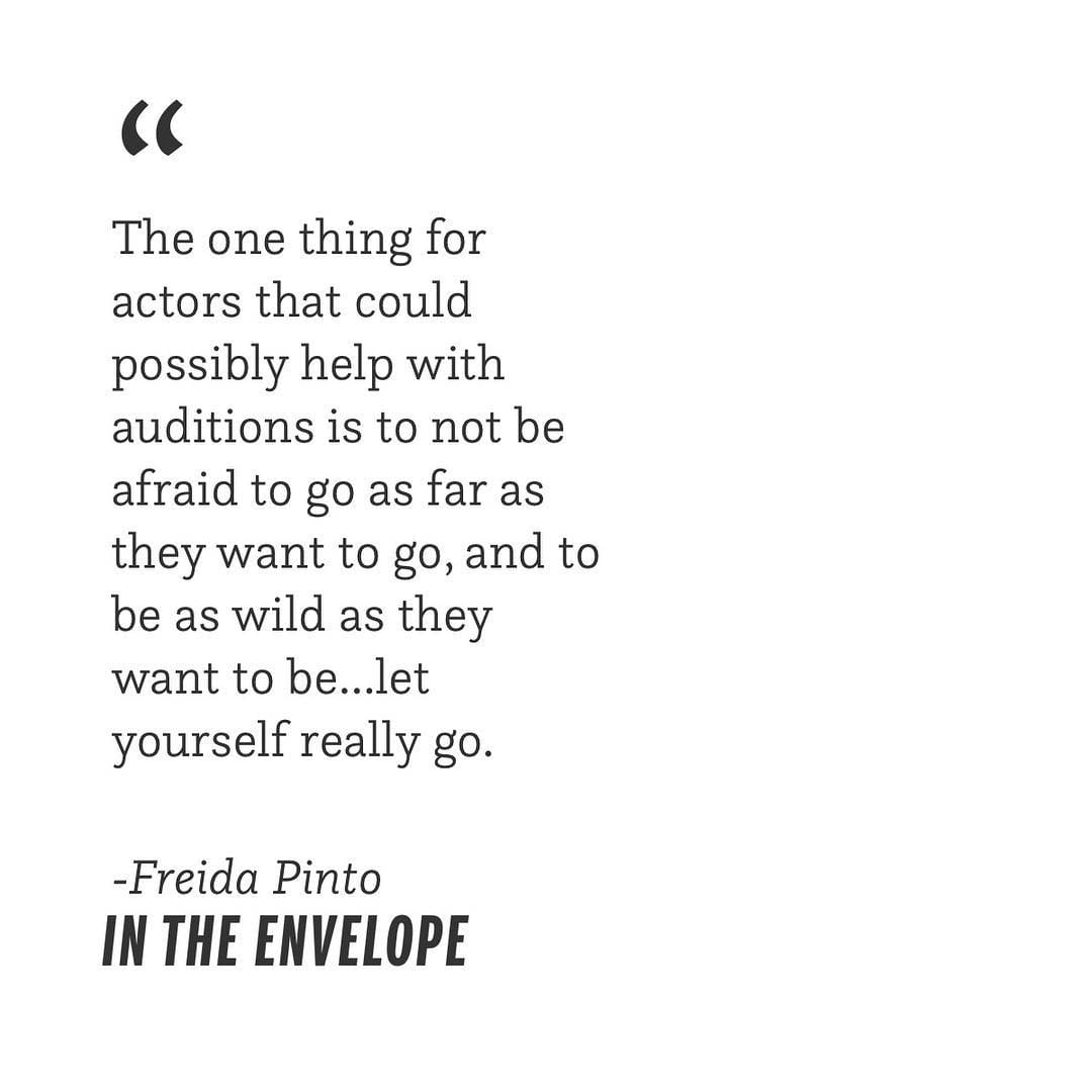 """Be wild and free. ? Listen to @freidapinto's boss interview on our podcast, """"In The Envelope,"""" link…"""