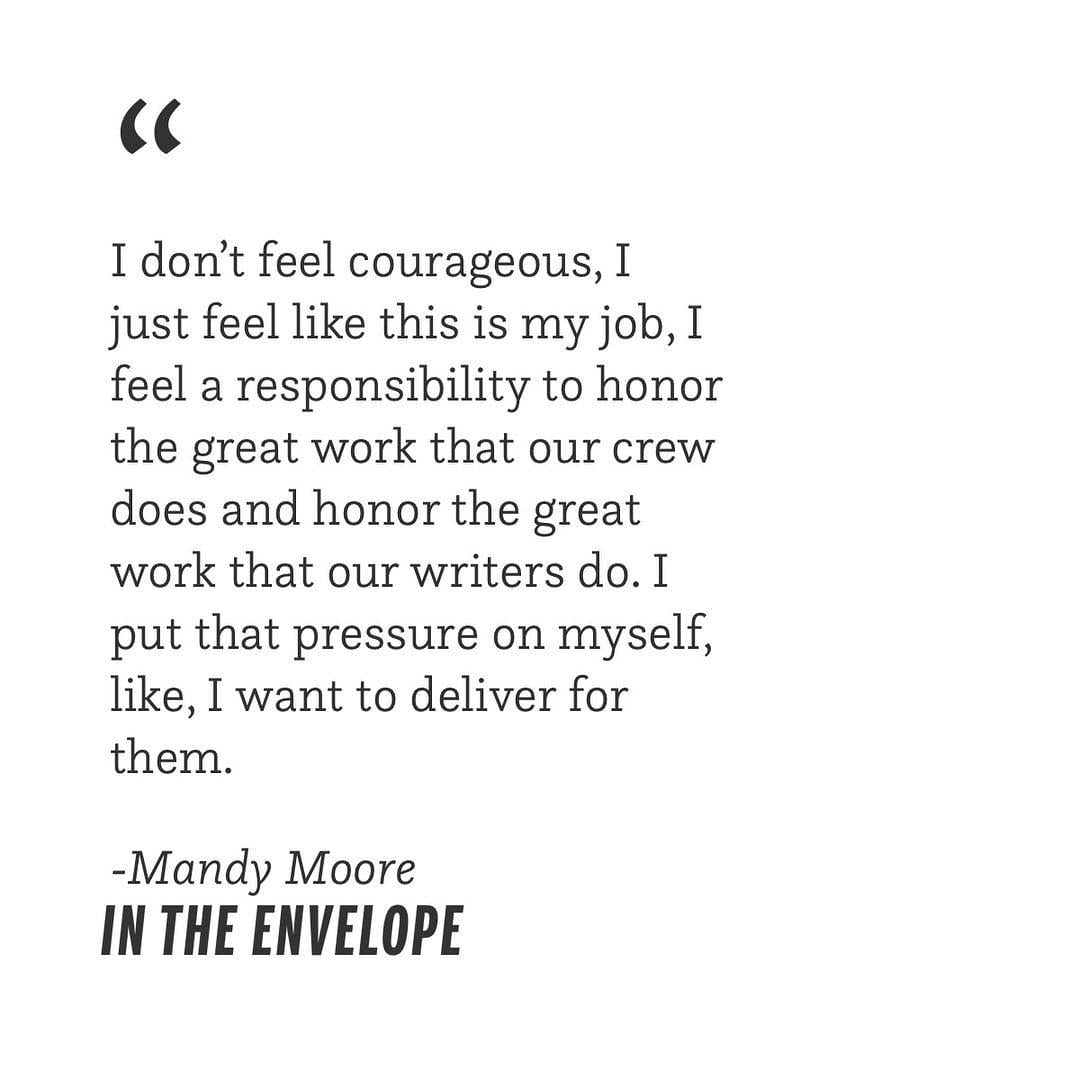 "Always honor the work. 💥 Catch up on all things @mandymooremm on our podcast ""In the Envelope,"" link…"